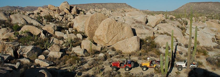 """Riesenfelsen """"Boulderfield"""" bei Catavina"""